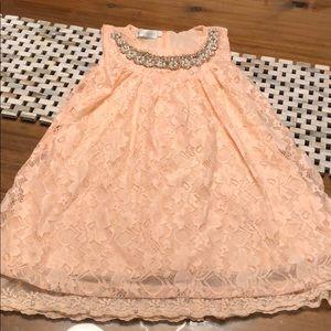 Trish Scully Child Dress in Peach